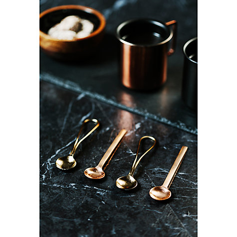 Just Slate Gold and Copper Teaspoons from John Lewis