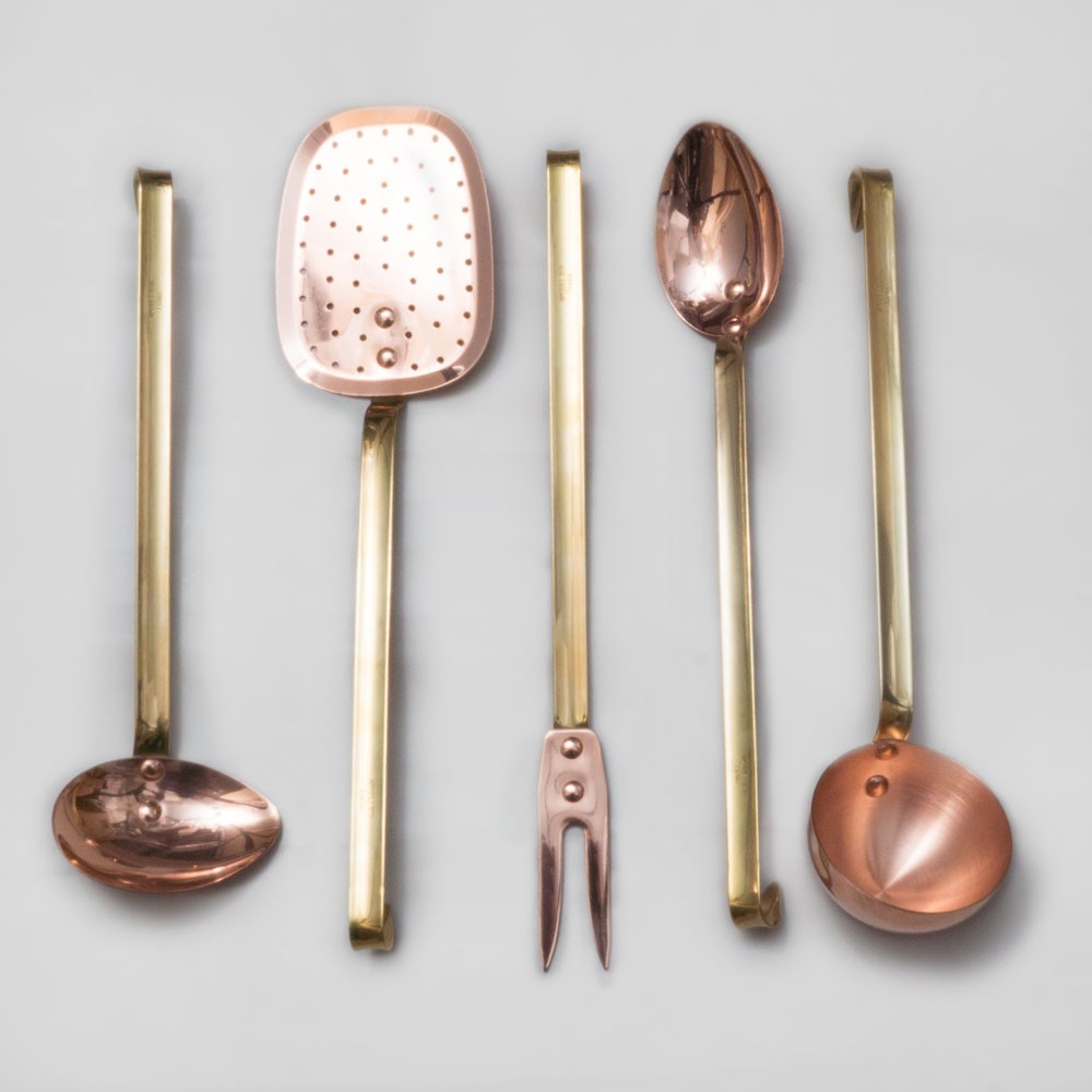 Mauviel M'Plus 5 Piece Copper Utensil Set from Borough Kitchen Cookshops