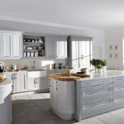 Kew Painted Kitchen in Soft Grey