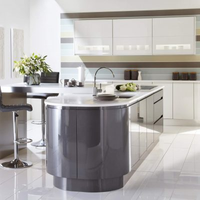 Malmo in Graphite and Porcelain Gloss