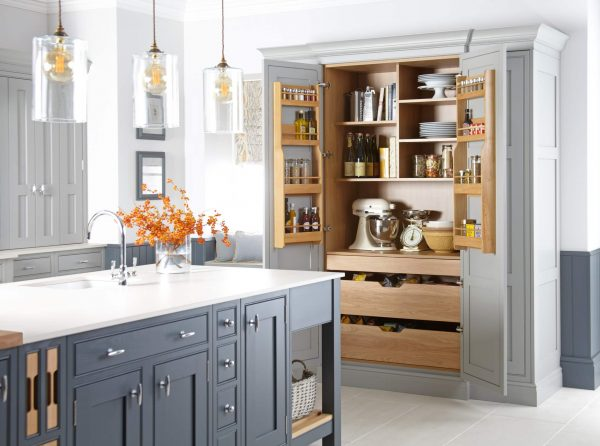 Langton Painted Kitchen in Gravel and Seal Grey