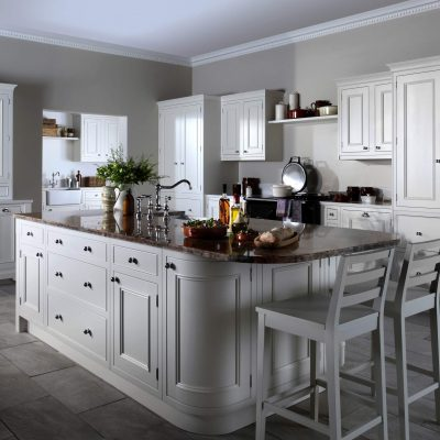 Salcombe Kitchen Painted in Chalk