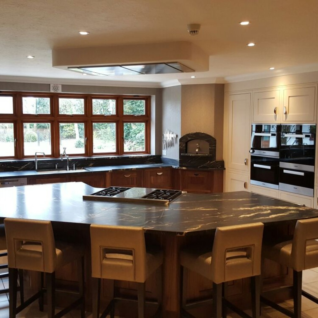 Bespoke Solid Walnut Kitchen with Quartzite Worktop