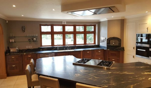 Book matched granite worktop in African Fusion