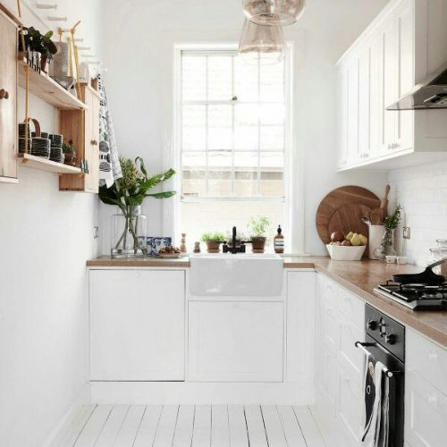 Small, light and airy kitchen