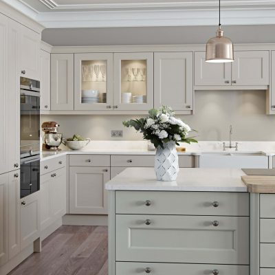 Finsbury Painted Timber in Gooseberry and Putty - Noble Kitchens