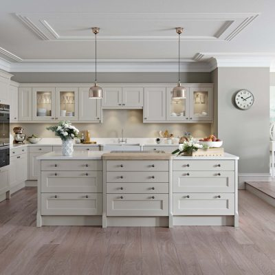 Finsbury Painted Timber in Putty - Noble Kitchens