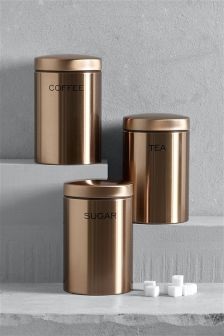 Set of 3 Copper Effect Storage Jars from NEXT