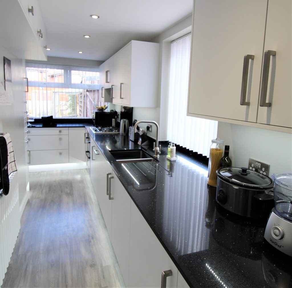 Modern Galley Kitchen, Noble Kitchens - Coventry and Warwickshire
