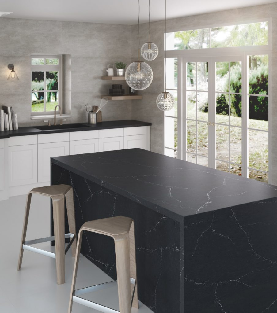 Silestone - Charcoal Soapstone Worktop, Noble Kitchens Coventry and Warwickshire
