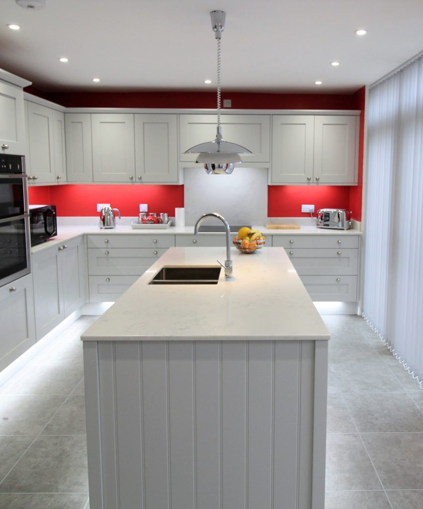 Painted Shaker Kitchen, Noble Kitchens, Coventry and Warwickshire