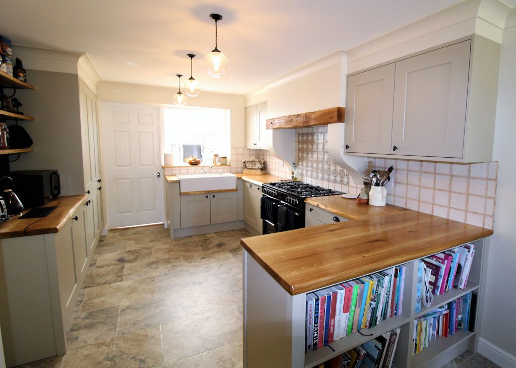 Painted Kitchen and Solid Wood Worktop, Napton