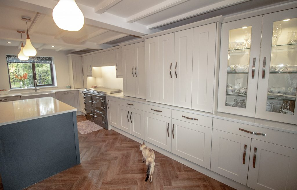 Shaker Kitchen in Edwardian White and Carbon, Supplied and Installed by Noble Kitchens, Coventry and Warwickshire