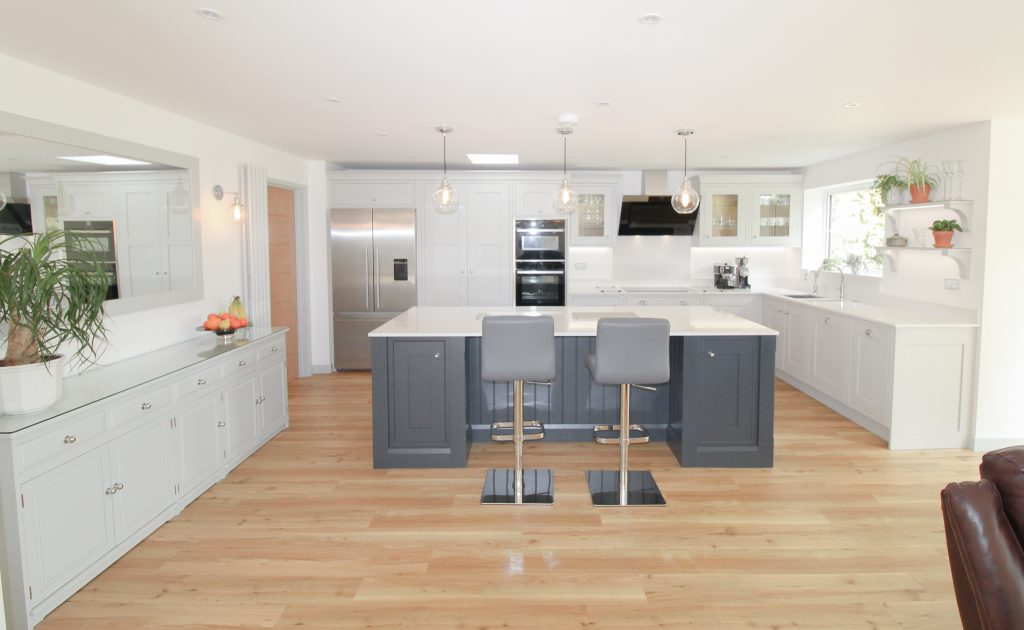Inframe kitchen in Light Grey and Charcoal, Noble Kitchens, Coventry and Warwickshire